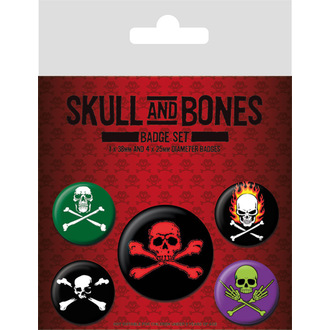 Badges Skull and Bones, PYRAMID POSTERS