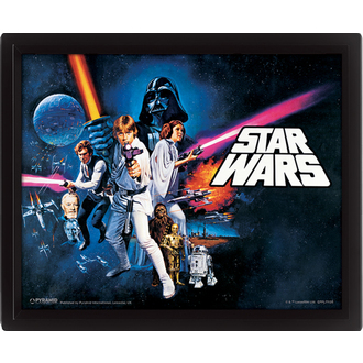 3D image Star Wars - A New Hope, PYRAMID POSTERS