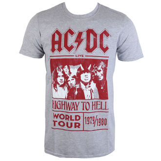 t-shirt metal men's AC-DC - Highway To Hell World Tour 1979/80 - ROCK OFF - ACDCTTRTW01MG