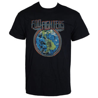 t-shirt metal men's Foo Fighters - Globe - LIVE NATION, LIVE NATION, Foo Fighters