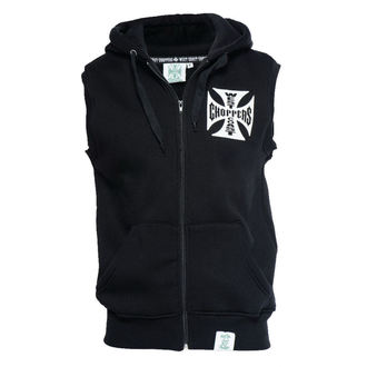 vest - IRON CROSS SLEEVELESS HOODY - West Coast Choppers, West Coast Choppers