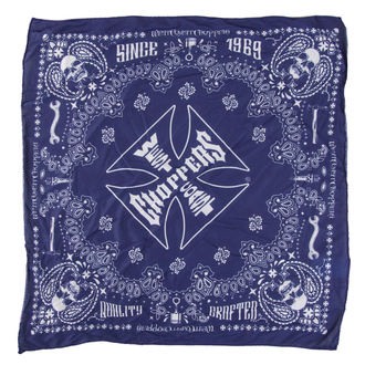 Kerchief West Coast Choppers - HANDCRAFTED - BLUE, West Coast Choppers