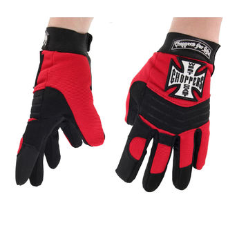 Gloves West Coast Choppers - RIDING - BLACK / RED - WCCHS003RD