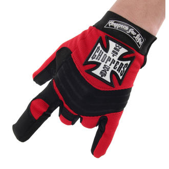 Gloves West Coast Choppers - RIDING - BLACK / RED, West Coast Choppers