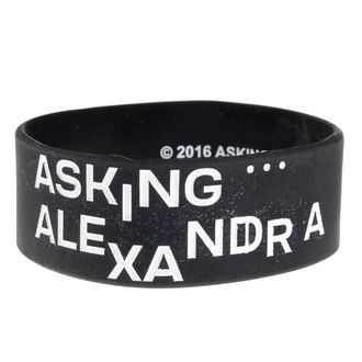 Rubber Bracelet ASKING ALEXANDRIA - THE BLACK - PLASTIC HEAD, PLASTIC HEAD, Asking Alexandria
