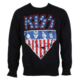 sweatshirt (no hood) men's Kiss - Stars & Stripes - HYBRIS, HYBRIS, Kiss
