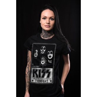 t-shirt metal women's Kiss - In Concert Distressed Poster - HYBRIS, HYBRIS, Kiss