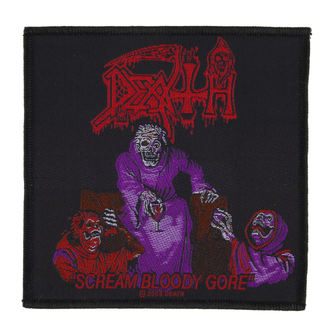 patch DEATH - SCREAM BLOODY GORE - RAZAMATAZ, RAZAMATAZ, Death