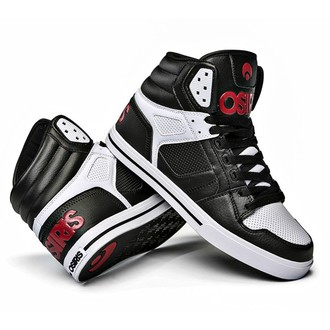 high sneakers women's unisex - Clone Black/Red/White - OSIRIS, OSIRIS