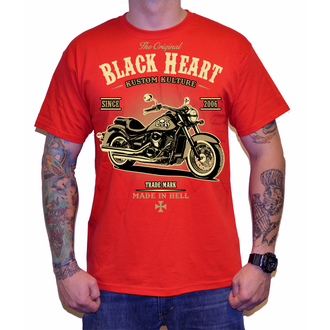 t-shirt street men's - HARLEY - BLACK HEART, BLACK HEART