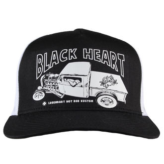 cap BLACK HEART - PICK UP MARK - WHITE, BLACK HEART