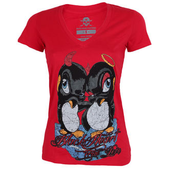 t-shirt street women's - PINGUIN - BLACK HEART, BLACK HEART