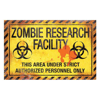 signs Zombie Research Facility