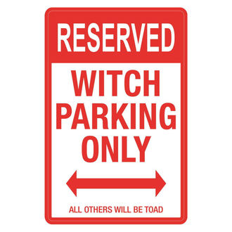 decoration (signs) Witch Parking