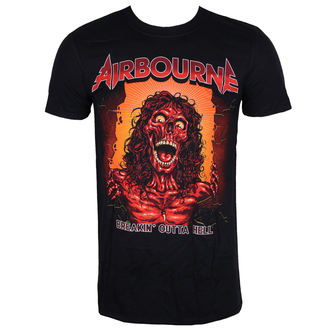 t-shirt metal men's Airbourne - BOH SKELETON T - LIVE NATION, LIVE NATION, Airbourne