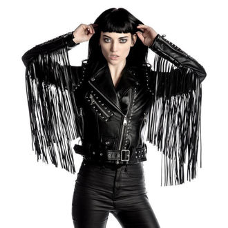 leather jacket women's - Harlet - KILLSTAR, KILLSTAR
