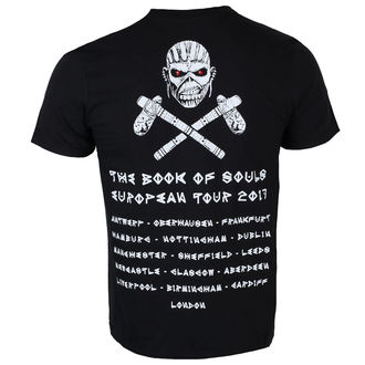 t-shirt metal men's Iron Maiden - Black - ROCK OFF, ROCK OFF, Iron Maiden