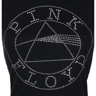 t-shirt metal women's Pink Floyd - Circle Logo Diamante - ROCK OFF, ROCK OFF, Pink Floyd