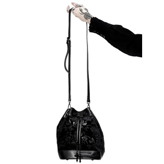 Handbag (bag) KILLSTAR - At Nightfall Velvet - BLACK - KSRA002544