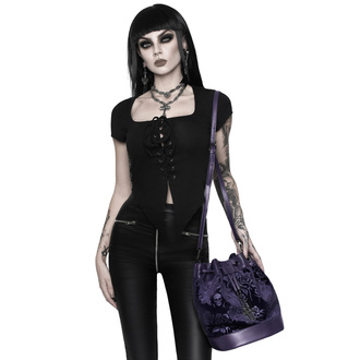 Handbag (bag) KILLSTAR - At Nightfall Velvet - PLUM - KSRA002545