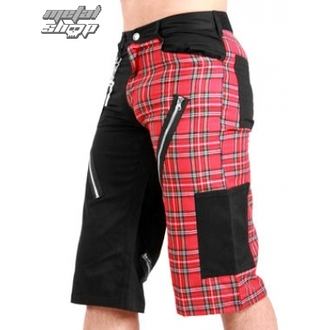 shorts men Black Pistol - Tartan Short Pants Black / Red - B-1-45-060-04