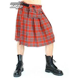 kilt men's Black Pistol - Short Kilt Tartan Red - B-2-10-060-04