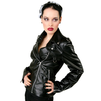 leather jacket women's - Biker Jacket Sky Black - BLACK PISTOL - B-6-06-113-00