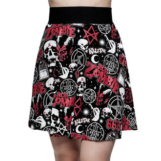 Women's skirt KILLSTAR - ROB ZOMBIE - Baby Death Skater - BLACK, KILLSTAR, Rob Zombie