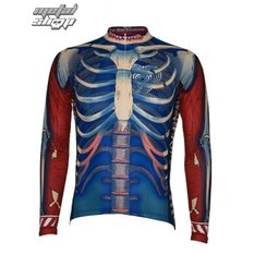 jersey cycling with long sleeve PRIMAL WEAR - Bone Collector - BCJERLS