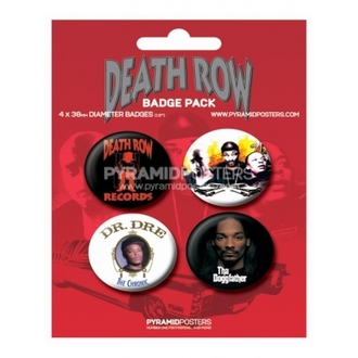 badges Death Row Records - BP80085, PYRAMID POSTERS