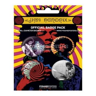 badges - Jimi Hendrix - BP80100 - Pyramid Posters