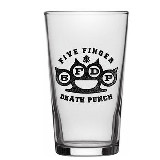 glass FIVE FINGER DEATH PUNCH - KNUCKLE LOGO - RAZAMATAZ, RAZAMATAZ, Five Finger Death Punch