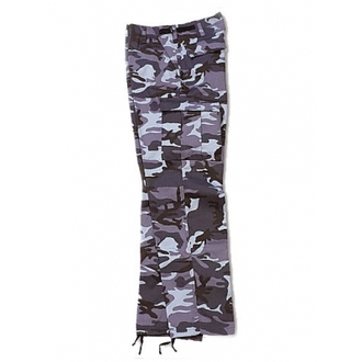 pants mens SURPLUS - RANGER TROUSER - BLUE Camo - 05-3581-28