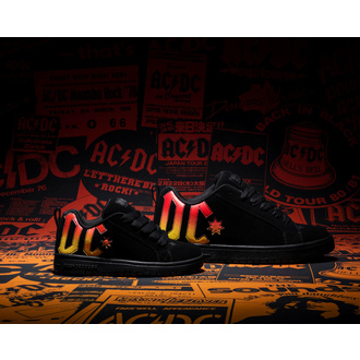 Shoes DC - AC / DC - HIGHWAY TO HELL - BLACK / BLACK / ORANGE, DC, AC-DC