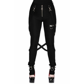 Women's trousers KILLSTAR - Def Leopard - BLACK - KSRA002935