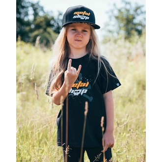 t-shirt metal children's - Black - METALSHOP - 61-033-036 3-4