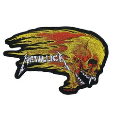 patch METALLICA - FLAMING SKULL CUT OUT - RAZAMATAZ - SP2942m