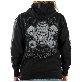 hoodie men's - BRUTAL FORCE GORILLA - LETHAL THREAT, LETHAL THREAT