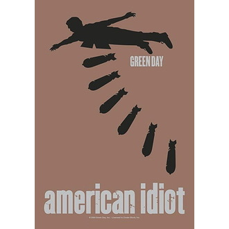 Flag Green Day - American idiot Bombs, HEART ROCK, Green Day