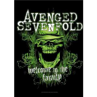 Flag Avenged Sevenfold - Welcome to the Family, HEART ROCK, Avenged Sevenfold