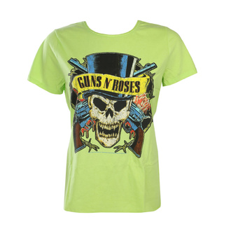 Women's t-shirt Guns N' Roses - DEATH SKULL - OCEAN COLOR GREEN - AMPLIFIED, AMPLIFIED, Guns N' Roses
