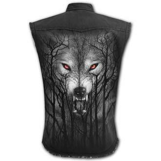 Men's sleeveless shirt (vest) SPIRAL - FOREST WOLF - Black, SPIRAL