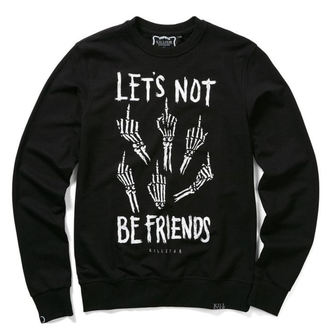 sweatshirt (unisex) KILLSTAR - Let's Not - Black, KILLSTAR