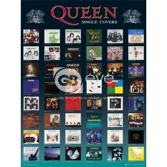 poster - QUEEN singles - LP1238 - GB posters