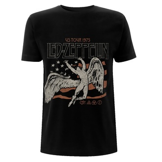 Men's t-shirt Led Zeppelin - US 1975 Tour Flag - Black, NNM, Led Zeppelin