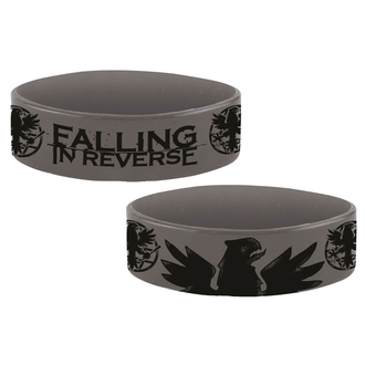 Rubber Bracelet FALLING IN REVERSE - EAGLE - PLASTIC HEAD, PLASTIC HEAD, Falling In Reverse