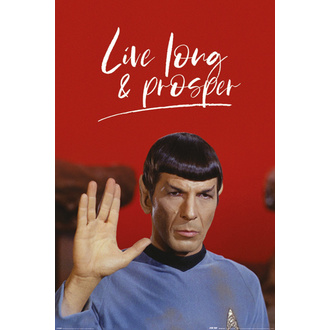 Poster STAR TREK - LIVE LONG AND PROSPER - PYRAMID POSTERS, PYRAMID POSTERS, Star Trek