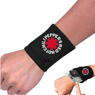Wristband Red Hot Chili Peppers - Asterisk Black, NNM, Red Hot Chili Peppers