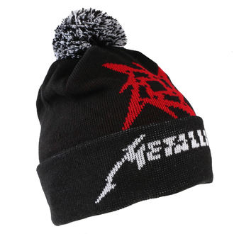 Beanie Metallica - Glitch Star Logo - Black Woven Bobble, NNM, Metallica