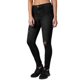 Women's trousers URBAN CLASSICS - High Waist - black washed - TB1539